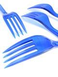 Fourchettes en plastique Photo stock