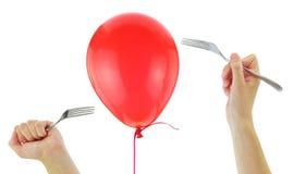 Fourchettes environ pour sauter un ballon photos libres de droits