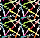 Fourchettes et fond sans joint de Knifes illustration stock
