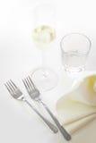 Fourchettes et vin Images libres de droits