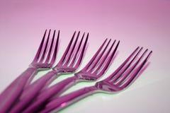 Fourchettes pourpres Photo stock