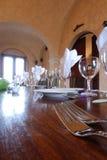 Fourchettes sur une table de mariage Photographie stock libre de droits