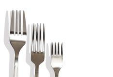 fourchettes trois Photo stock