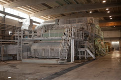 fourdrinier πολτός χαρτιού μύλων μηχ&alp Στοκ εικόνα με δικαίωμα ελεύθερης χρήσης