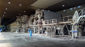 fourdrinier machine mill paper pulp Στοκ Εικόνες
