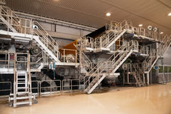 fourdriniermaskinen mal pappersträmassa Arkivbild