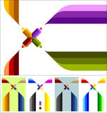 Fourend pencil with strokes Stock Images
