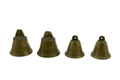 Fourf brass bells Royalty Free Stock Image