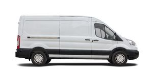 Fourgon blanc Ford Transit photographie stock