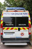 Fourgon de Civile De Paris de protection à Paris Image libre de droits