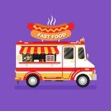 Fourgon de hot-dog d'aliments de préparation rapide Image libre de droits