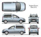 Fourgon de message publicitaire du tepee 2015 d'associé de Peugeot Image stock