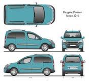 Fourgon de message publicitaire du tepee 2015 d'associé de Peugeot Photographie stock libre de droits