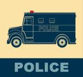 Fourgon de police, art de bruit de dessin Image stock