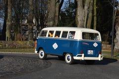 Fourgon de wagen de VW Volks dans le Burg Fehmarn Allemagne images stock