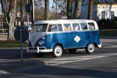 Fourgon de wagen de VW Volks dans le Burg Fehmarn Allemagne image libre de droits
