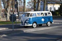Fourgon de wagen de VW Volks dans le Burg Fehmarn Allemagne photos libres de droits