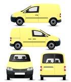Fourgon jaune illustration stock