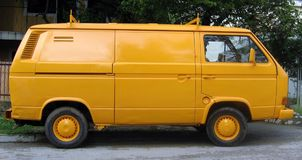 Fourgon jaune Photo stock
