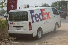 Fourgon logistique de Fedex Images libres de droits