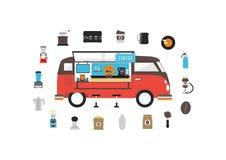 Fourgon mobile de café illustration de vecteur