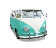 Fourgon vert de VW photos stock