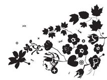 Fourmi et flowerses Images libres de droits