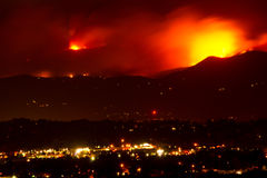 Fourmile Canyon Wildfire Rages. A flareup scorches the foothills behind the city of Boulder, Colorado as the Fourmile Canyon wildfire rages out of control Royalty Free Stock Photos