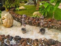 Fourmis de décoration de jardin à une voie image stock