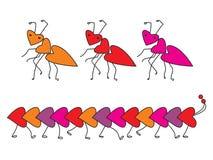 Fourmis en forme de coeur Images libres de droits