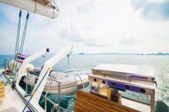 Fourneau de barbecue pour faire cuire sur le yacht Photos libres de droits