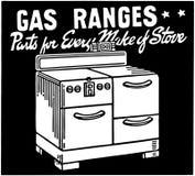 Fourneaux à gaz Image libre de droits