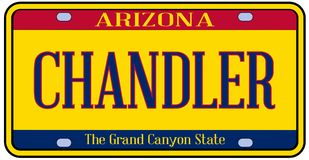 Fournisseur State License Plate de l'Arizona illustration libre de droits