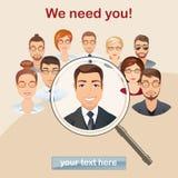 Fournissez la recherche de personnel, concept de gestion de ressources humaines, professionnel Photo stock