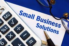 Fournissez les solutions financières à la petite entreprise images libres de droits