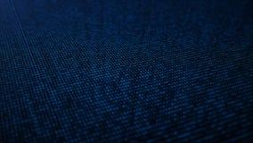 Fournit à des acces de sécurité le code binaire Concept de code binaire Numéros de Digital un et zéro sur un fond bleu avec illustration de vecteur