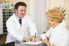 Fourniture de l'information d'assurance-maladie Images stock