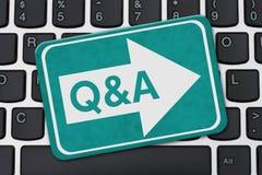 Fourniture du Q&A pour vos affaires sur l'Internet Photographie stock
