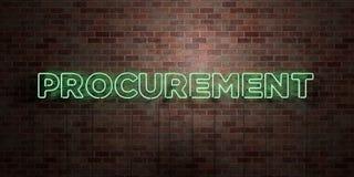 FOURNITURE - tube au néon fluorescent connectez-vous la brique - vue de face - photo courante gratuite de redevance rendue par 3D illustration stock