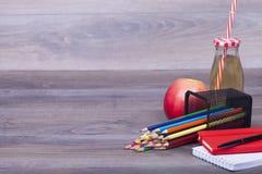 Fournitures de bureau d'école et Photo libre de droits