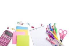 Fournitures de bureau d'école et Image libre de droits