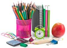Fournitures de bureau d'école et Photographie stock libre de droits