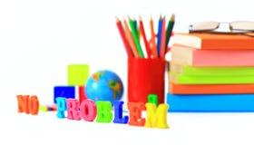 Fournitures de bureau d'école et. Photo stock