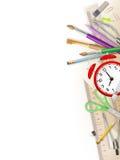 Fournitures de bureau d'école et ENV 10 illustration de vecteur
