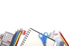 Fournitures de bureau d'école ou photo libre de droits