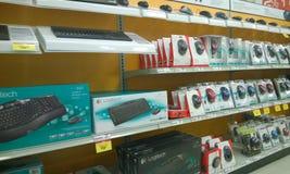 Fournitures de bureau se vendant au magasin Image libre de droits