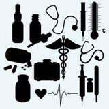 Fournitures médicales et équipement illustration stock