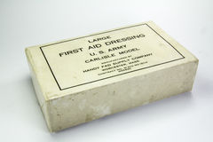 Fournitures médicales utilisées pendant la deuxième guerre mondiale Images libres de droits