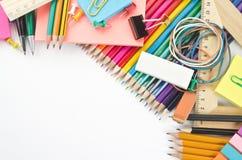 Fournitures scolaires Photos stock