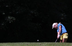 Fourqueux高尔夫球夫人的特雷瑟拉尔森打开 库存图片